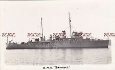 "Royal Navy Real Photo RPPC. HMS ""Bramble"" Minesweeper. Sunk Barents Sea. 1939"