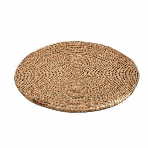 Eco Corn Husk Cattail Hassock Round Pad Mat Tatami Floor Chair Seat Cushion Home