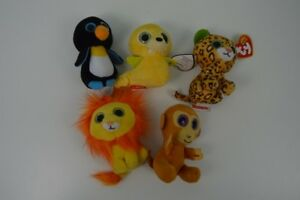 5e325338d7f TY Teenie Beanie Boos Lot Tusk Waddle Freckles Lion Monkey McDonalds ...