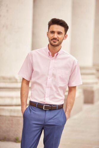 Oxford Uomo Camicia A Maniche Corte Oversize 3xl 4xl 5xl 6xl facile da pulire Camicia superiore