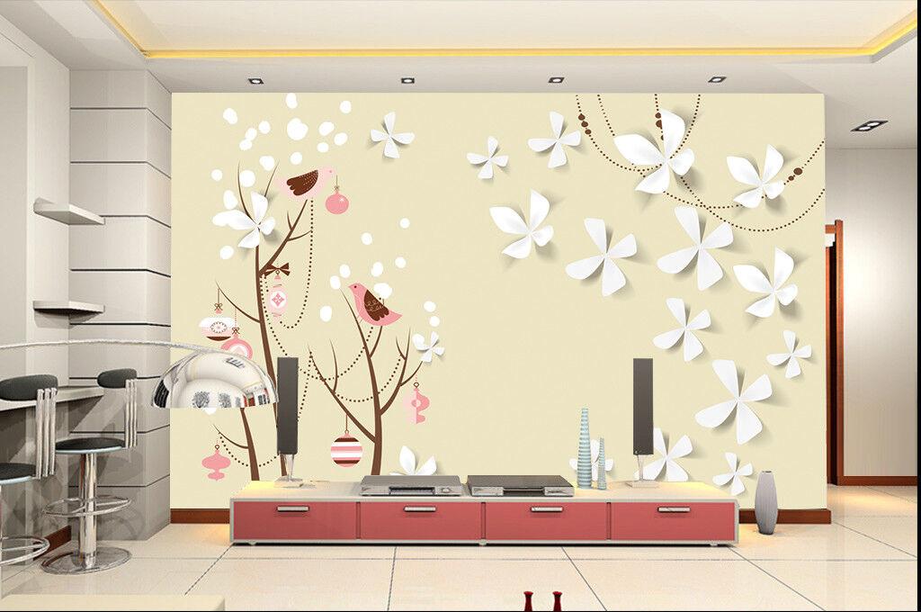 3D Birds Paint 432 Wallpaper Murals Wall Print Wallpaper Mural AJ WALLPAPER UK