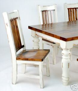 Image Is Loading RUSTIC WHITE RESTORATION FARM TABLE HARVEST TABLE