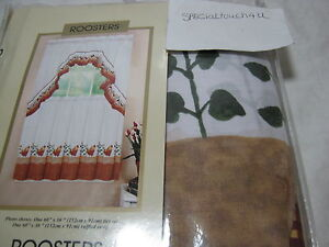 Curtains Of Character By United Roosters Window Tier Set Ruffle