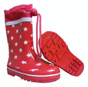 Kids Girls Unisex Wellies Sizes 5.5 6 7 8 11 11.15 12 Pink Red 23 24 25 26 30 31