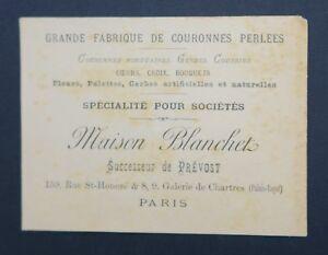 Carte De Visite Maison BLANCHET Fabrique Couronnes