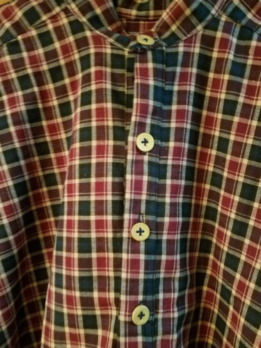Glass or Bone Buttons 1800/'s Civil War Style Men/'s Colored SHIRTS Shell Wood