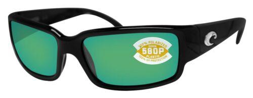 Costa Del Mar Caballito Black Frame Green Mirror 580P Plastic Polarized Lens