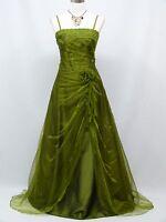 Cherlone Green Prom Ball Formal Bridesmaid Wedding/Evening Gown Dress Size 14-16