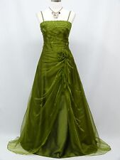 Cherlone Green Prom Ball Formal Bridesmaid Wedding/Evening Gown Dress Size 14-16