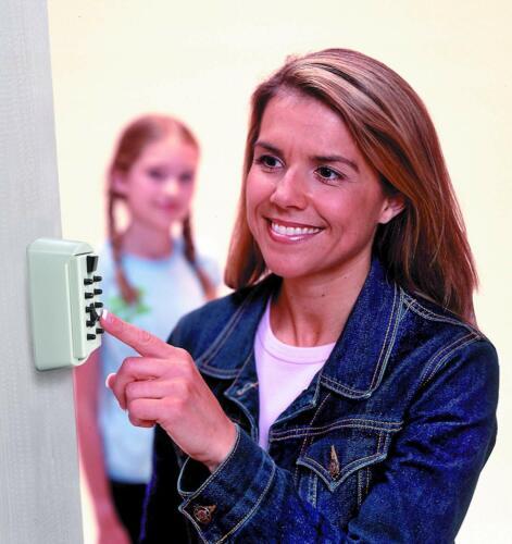 Combination Key Lock Box Wall Mount Safe Security Storage Case Kid Realtor Acces