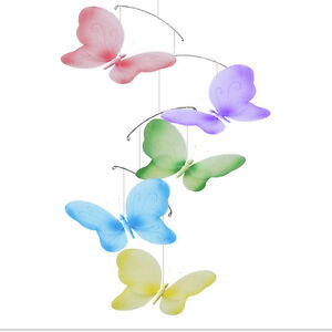 Butterfly Mobile Ceiling Hanging Butterflies Girl Nursery ...