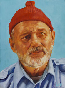 Steve Zissou large ART PRINT from oil painting 13x19in