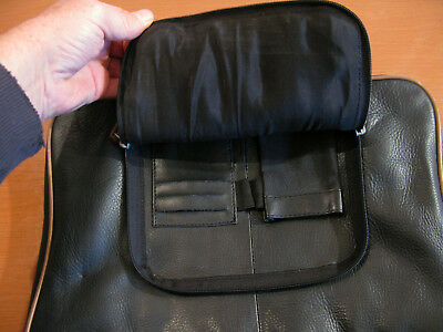Schwarze Echtleder Handtasche