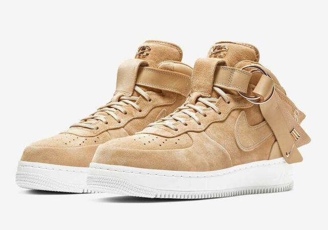 Nike Air Force 1 Mid CMFT Victor Cruz Tan Suede AO9298 200 Shoes Mens Multi Size