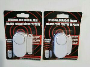 Security Alarm-Window Door Or Cabinet 90 DB Piercing Sound  Includes Batteries