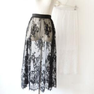 a6aa282466b7 Lady Lace Dress Extender Slip Elastic Waist A Line Skirts Extenders ...