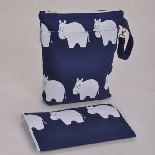 bambinio changing bag wallet with matching mat hippo