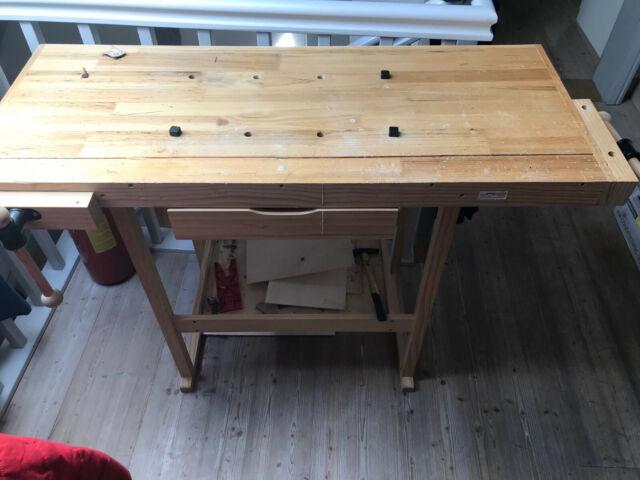 tectake 400915 117x47,5x83cm Holz Werkbank - Braun günstig ...