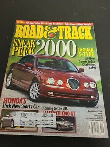 ROAD & TRACK CAR MAGAZINE 1998 DECEMBER JAGUAR S-TYPE MASERATI 3200 HONDA S2000