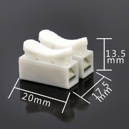 20Stk 2 Pin Kabel LED Strip Verbinder   Schnellverbinder mit einer Klemme N V3F2