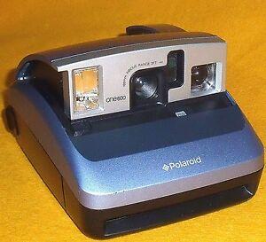 nice polaroid one600 silver blue camera 600 film instant