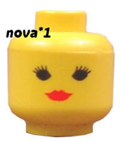 LEGO HEAD FEMALE RED LIPSTICK FOR MINIFIGURE NEW