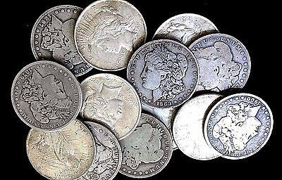 All Full Dates FREE S/&H NO Culls Lot of 4 Morgan /& Peace 90/% Silver Dollars