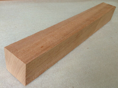 Woodturning West African Sapele 50mm Square Wood Turning Spindle Blank