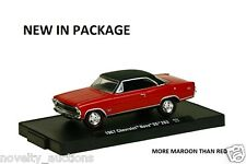 M41 11228 32 M2 MACHINE AUTO DRIVERS 1967 CHEVROLET NOVA SS 283 RED  1:64