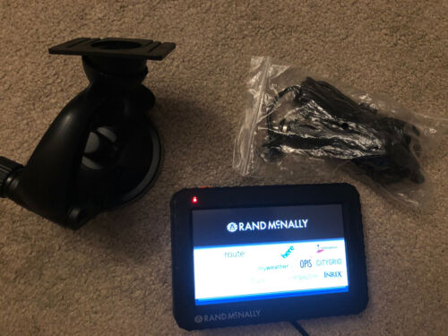 RAND MCNALLY TND-520 LM TRUCK GPS CAR CHARGER WINDSHIELD MOUNT LIFETIME MAPS