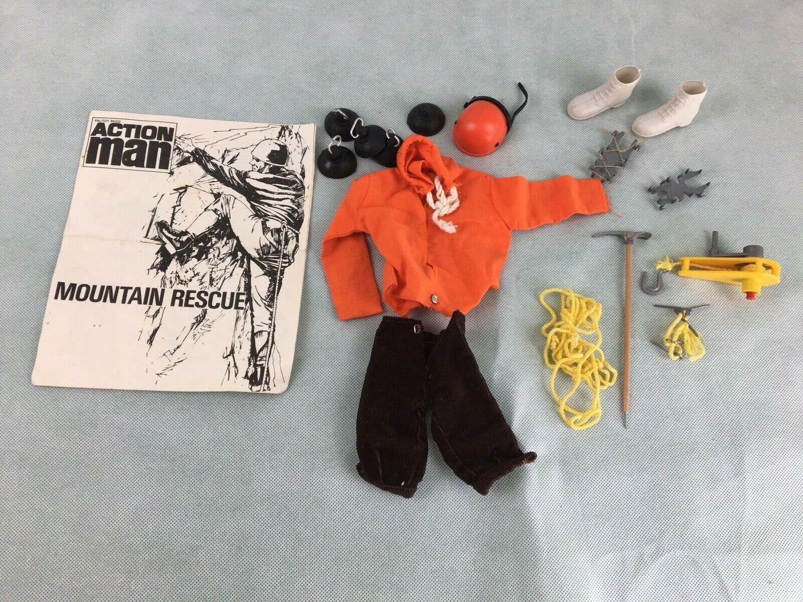 Action Man Rescate de Montaña, 1980s, 1970s, Vintage, Retro Juguetes, viejo,