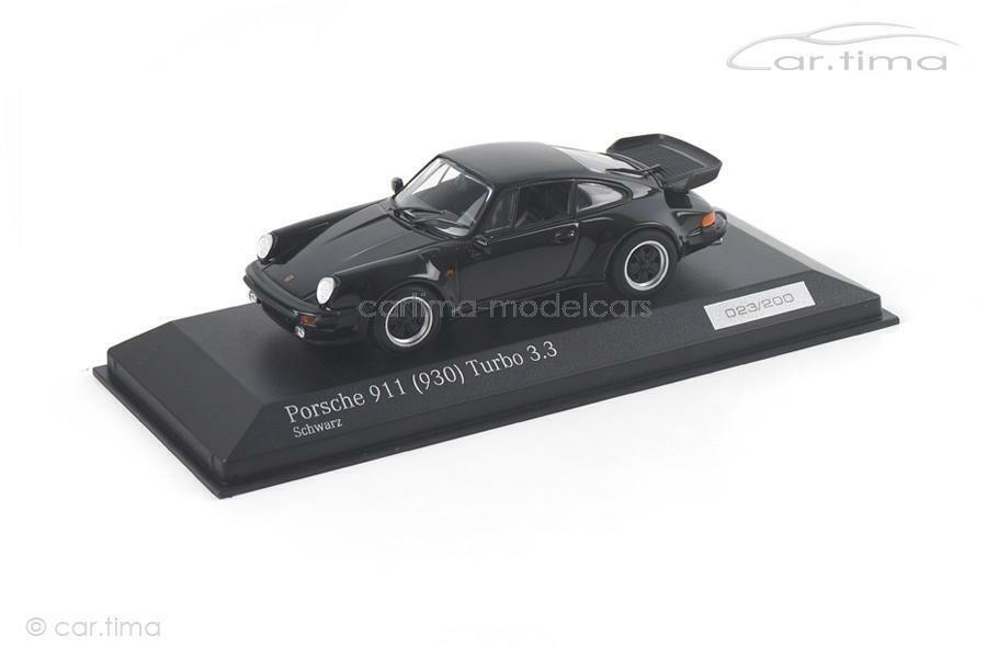 Porsche 911 (930) Turbo 3.3 - negro-Minichamps - 1 of 200-ca04316034