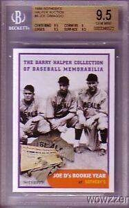 1999 Topps Sotheby Halper Auction Card #4 Joe DiMaggio BGS 9.5 GEMMINT