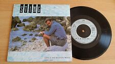 """STING - LOVE IS THE SEVENTH WAVE (NEW MIX) - 45 GIRI 7"""" - UK PRESS"""