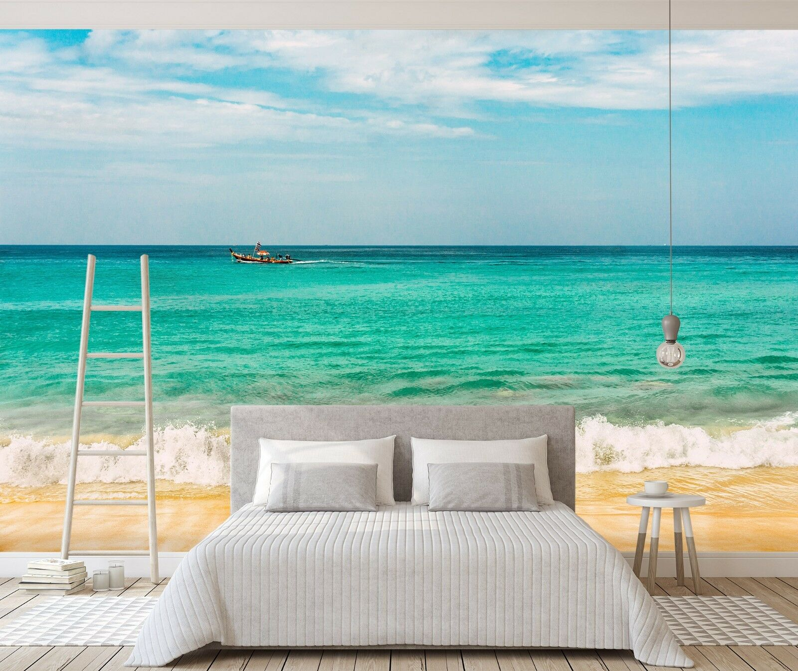 3D Sea Beach Sky 841 Wallpaper Mural Paper Wall Print Indoor Murals CA Summer