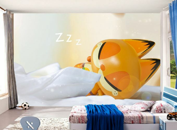 3D Sleeping Civet Cat Paper Wall Print Decal Wall Wall Murals AJ WALLPAPER GB