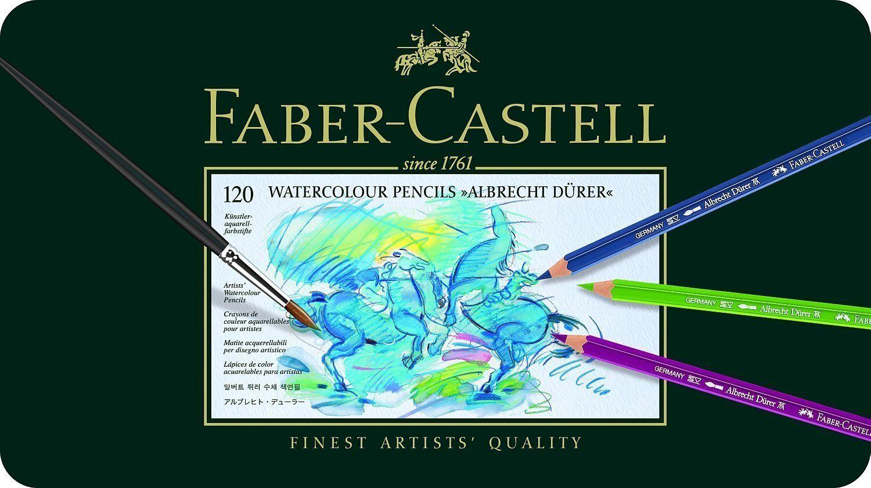 Faber Castell Aquarellstift Albrecht Dürer 120er Metalletui 117511 | Üppiges Design  | Sehr gelobt und vom Publikum der Verbraucher geschätzt  | Qualität