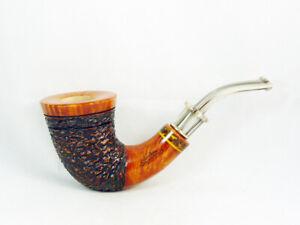 PIPA STEFANO SANTAMBROGIO RADICA rusticata Tobacco Pipe pipa 9mm filter pfeife