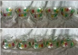 HOLIDAY-Rainbow-Thumb-print-Sherbet-Dessert-Red-Green-Yellow-Glass-KIG-Indonesia