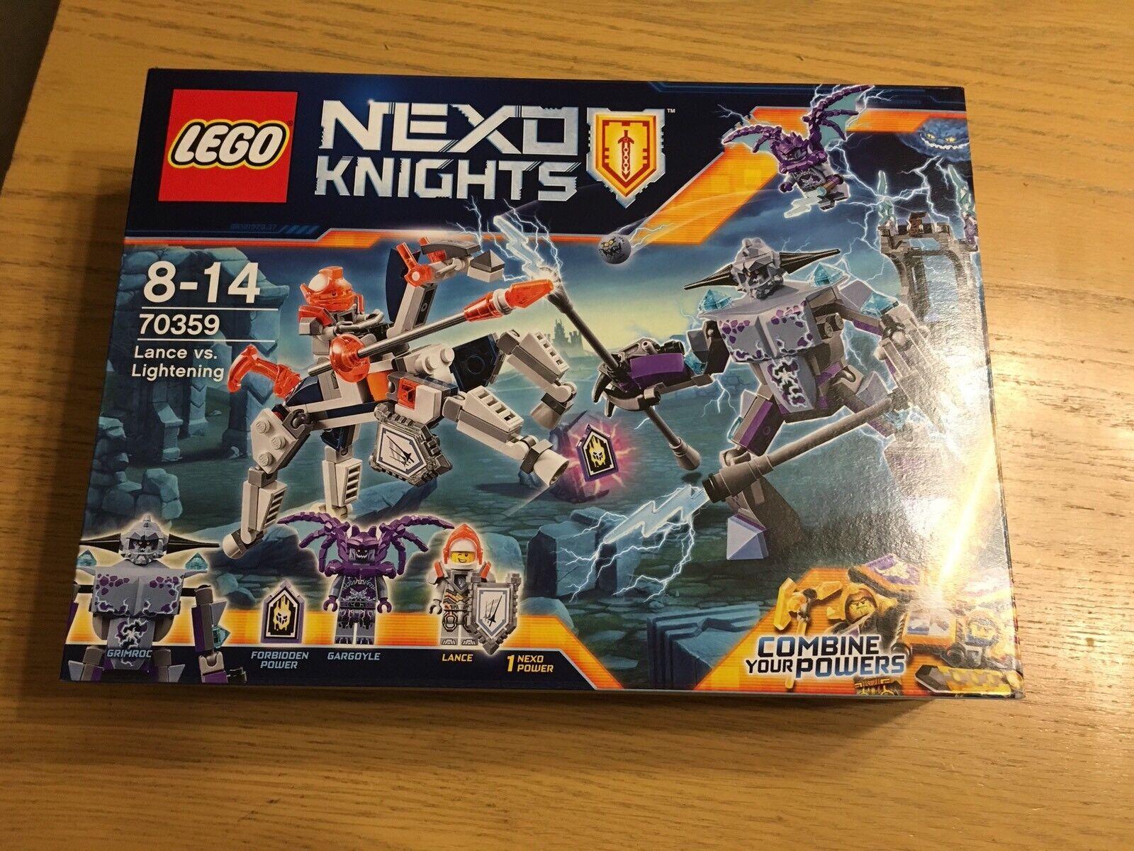 LEGO NEXO KNIGHTS LANCE vs LIGHTNING 70359 NEW Box Set