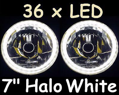 "WHITE 7"" AUTOPAL LED Halo Headlights Toyota Landcruiser 75 78 79 HZJ75 series"