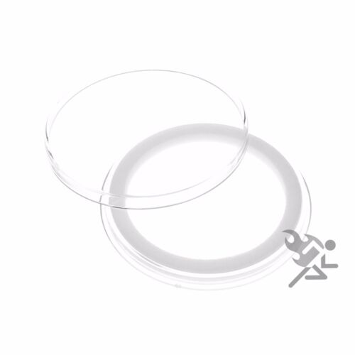 5 Pack Air-Tite Holders 39mm White Ring Silver /& Copper Rounds Coin Capsules