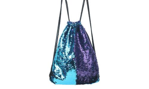 Women/'s Magic Reversible Sequin Glitter Shoulder Bag Outdoor Sports Backpack