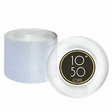 50 Premium Clear Plastic Plates for Dinner Party or Wedding - 10 Inch Fancy D.  sc 1 st  eBay & OPENBOX 70 Premium Clear Plastic Plates for Party or Wedding - 7 ...