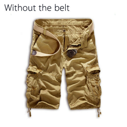 Men Sports Trousers Army Military Cargo Pocket Camouflage Short Pants Summer 36