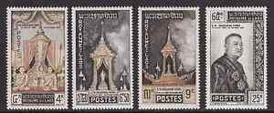 LAOS-1961-Burial-Ceremonies-for-King-Sisavang-Vong-Complete-set-4v-MNH