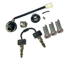 Vespa-Ignition-Switch-Electric-Start-3-Barrel-Lock-2-Key-PX-125-150-LML-Stella