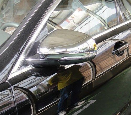FAST EMS x2 ROYAL CHROME Door Mirror Covers for JAGUAR XJ XJ8 XF XFR XFRS 10 on