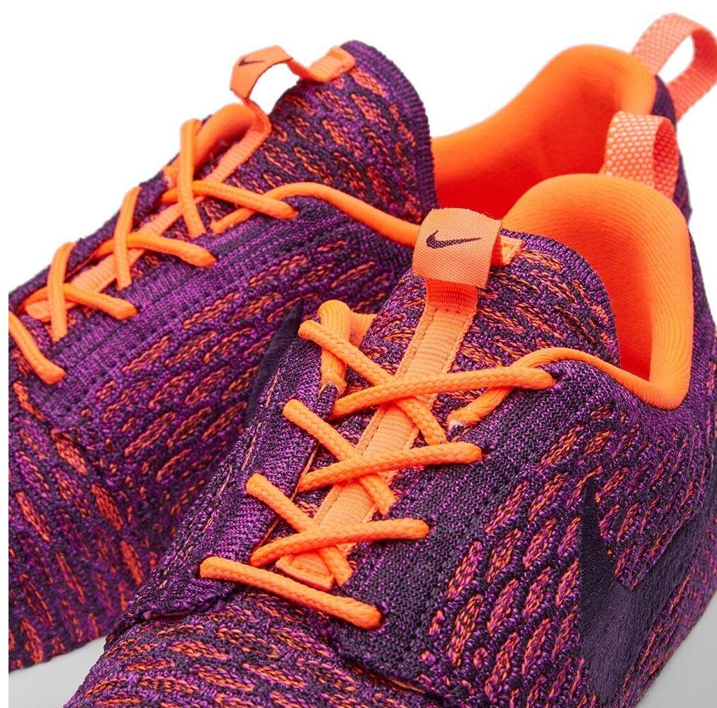 NUOVO Nike Roshe One Flyknit scarpe scarpe scarpe da ginnastica Scarpe da ginnastica, Donna Ragazze-viola 4c77f2