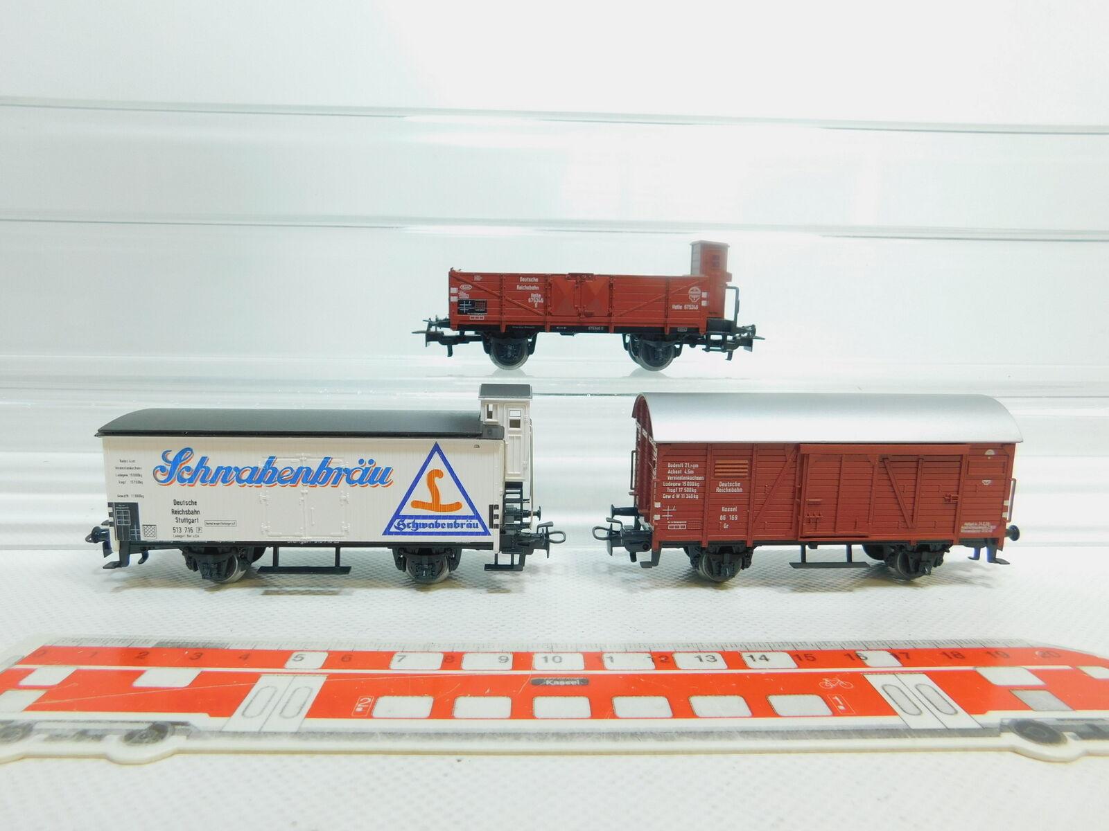 Bm64-0, 5 X MÄRKLIN H0 AC FREIGHT CAR DRG   4680 Schwabenbräu +86 169 +675346